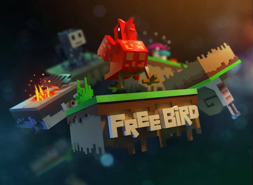free bird game game art design animation illustration